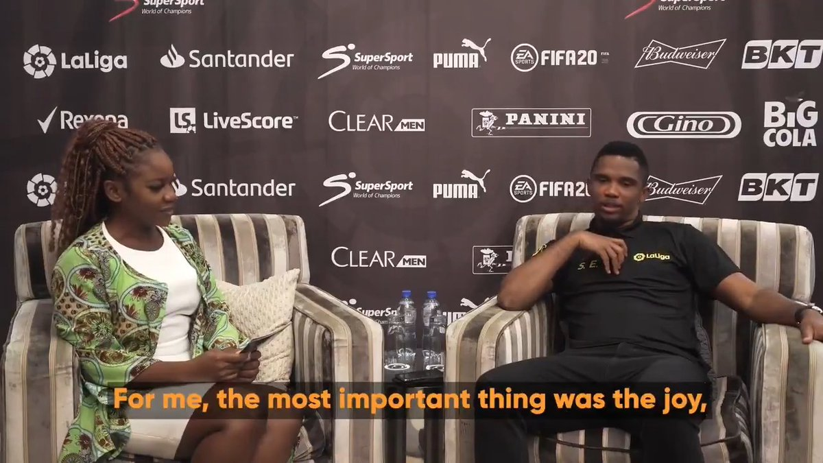 How much does @setoo9 know about Samuel Eto'o? 😅 📽️ @livescore put him to the test! #LaLigaSantander #StayHome