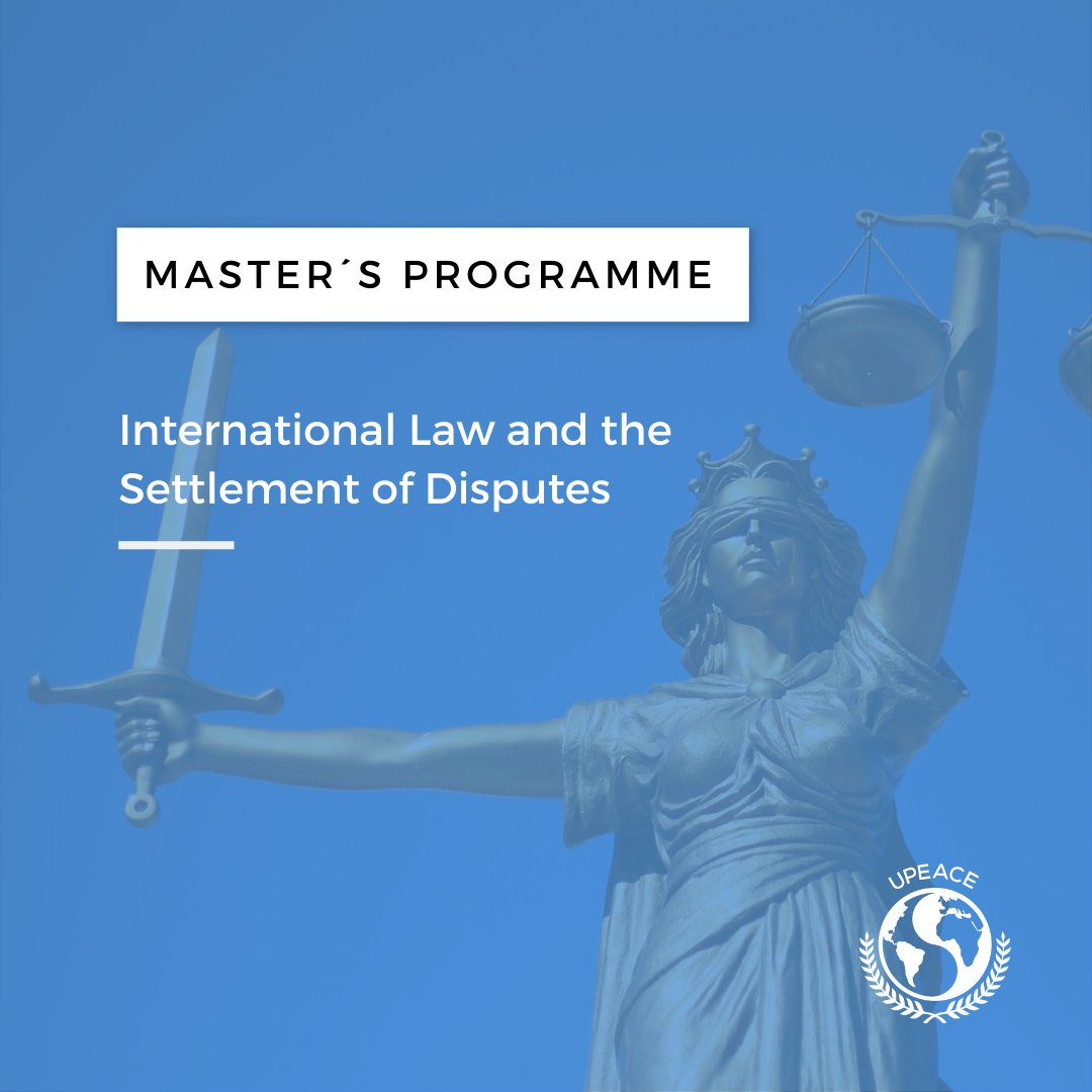 The M.A. Programmes in International Law at #UPEACE  provide a rigorous understanding of the role of law in today's complex global society. 👩‍🎓