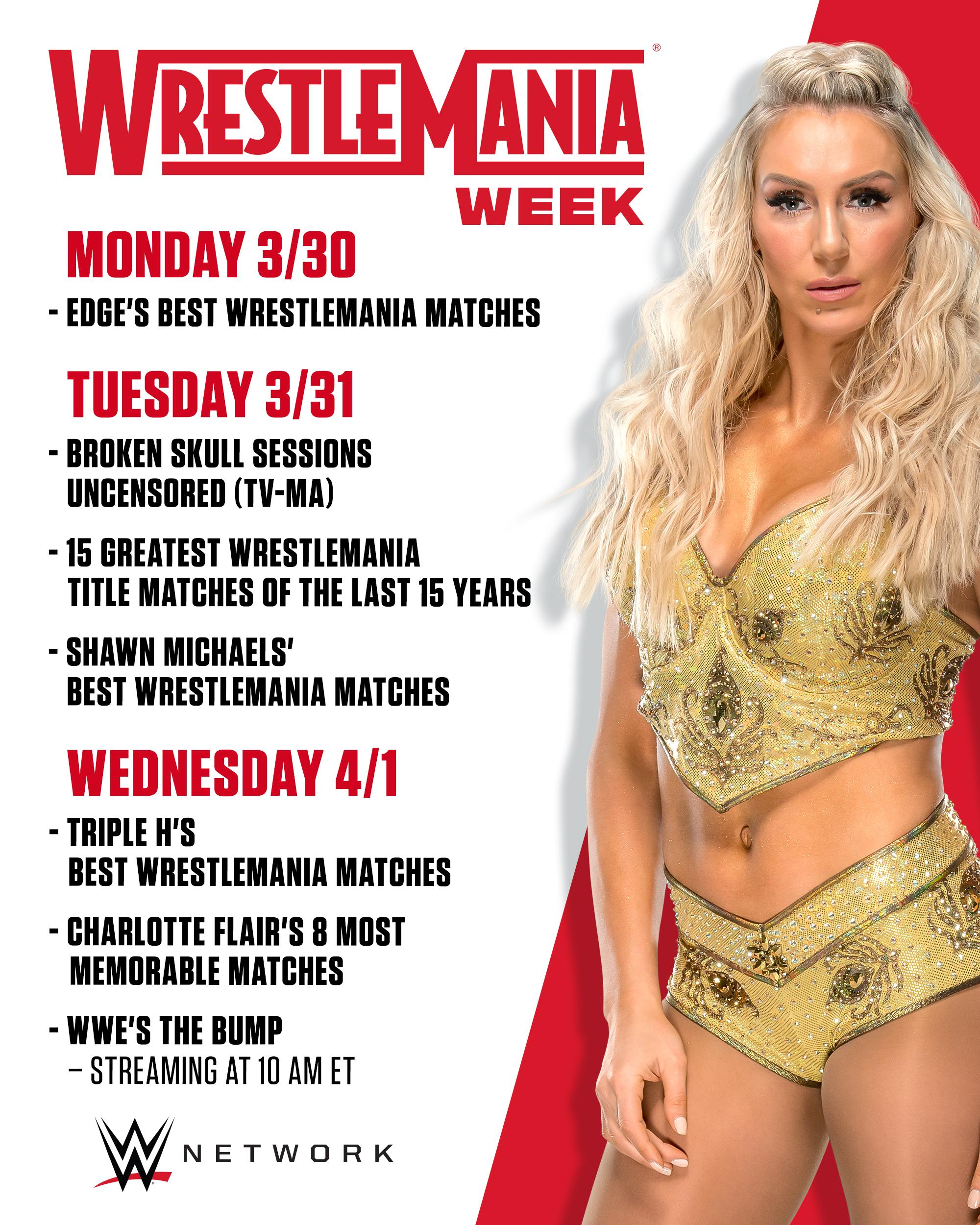 Wrestlemania Week Announced On WWE Network; List Of Programs Revealed 2