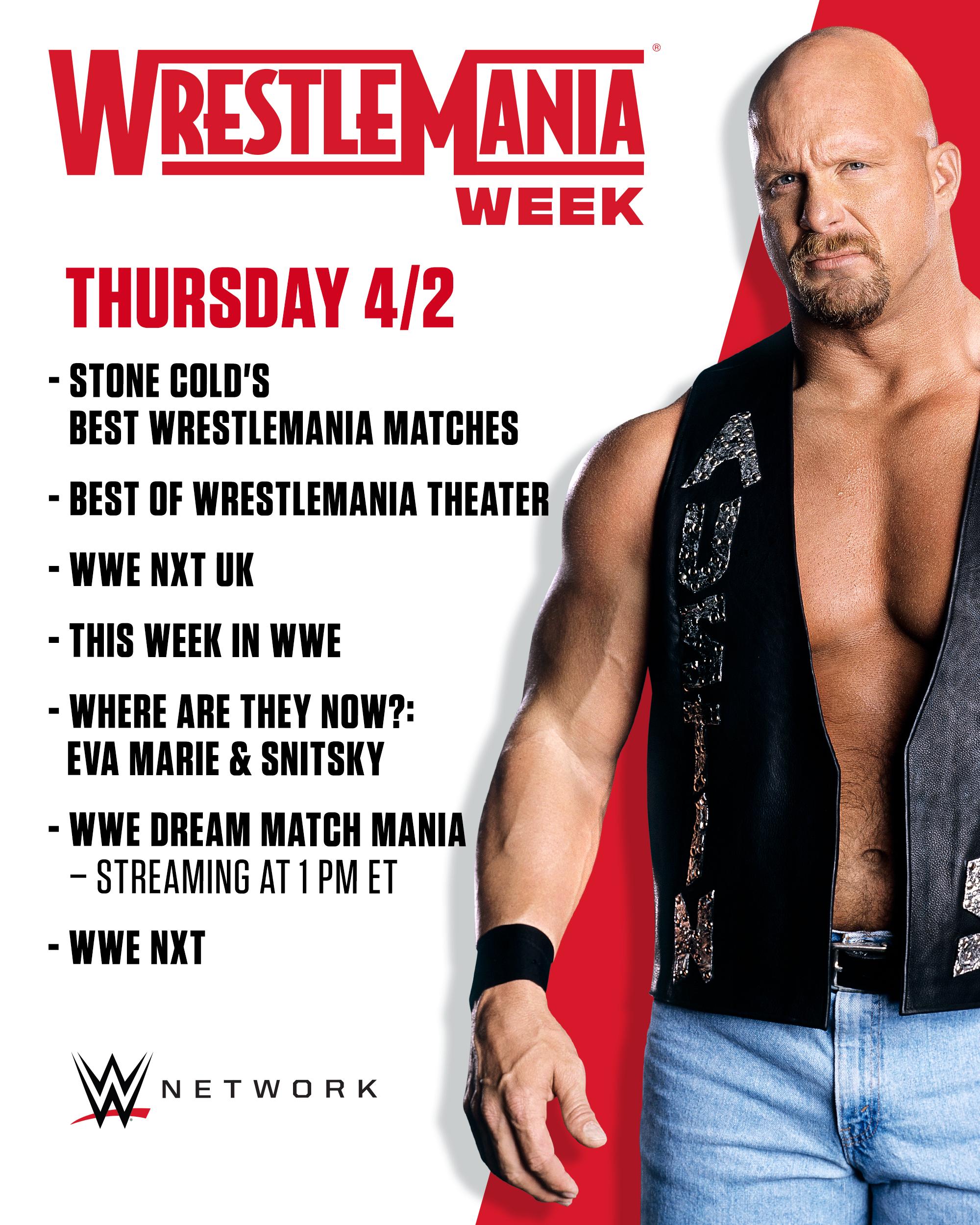 Wrestlemania Week Announced On WWE Network; List Of Programs Revealed 4