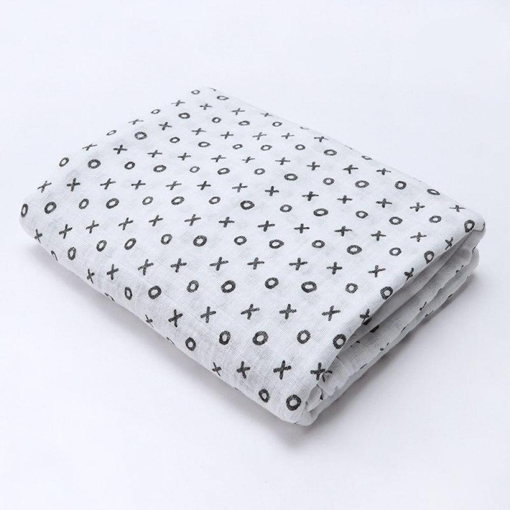 #babyshop #bebe #sweet Geometic Floral Animals Printed Organic Cotton Blanket