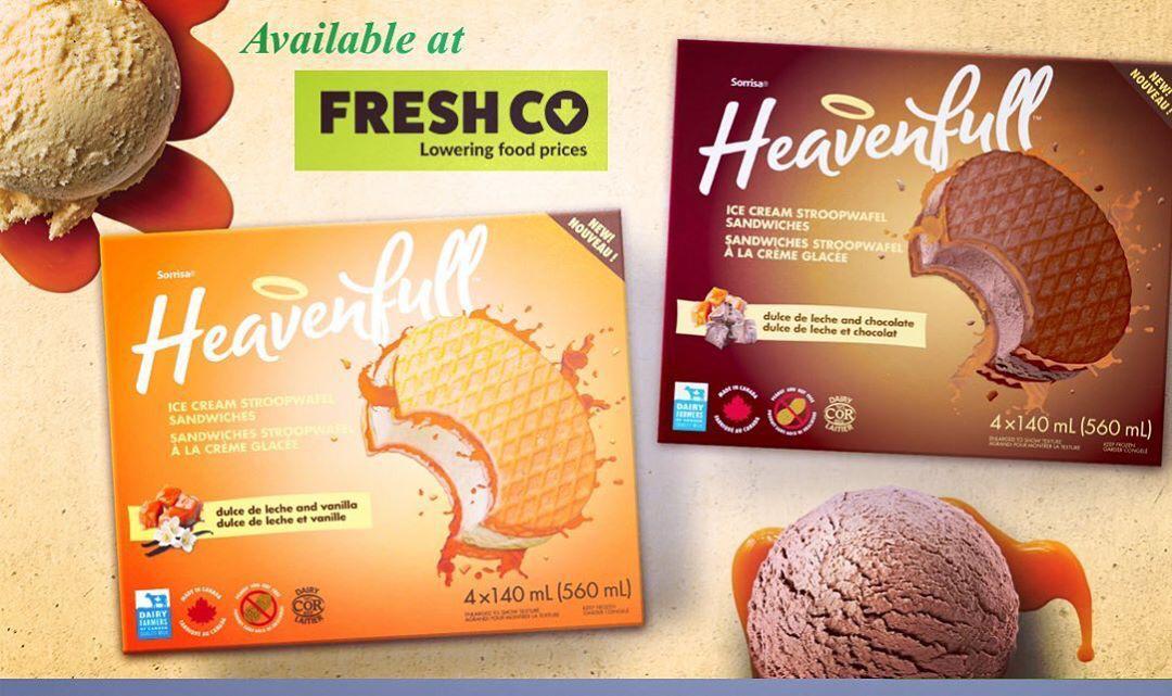 Find Heavenfull Ice Cream Sandwich on sale at @freshcogrocery . . .  #icecreamstroopwafel #freshco #stroopwafel #icecream #foodlovers #waffles #dessert #desserts #yum #yummy #amazing #instagood #instafood #sweet #chocolate #cake #icecream #dessertporn #delish #foods #delicious