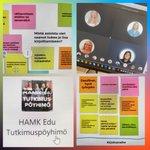 Image for the Tweet beginning: Tänään @HAMK_Edu :n virtuaalinen #tutkimuspöyhimö,