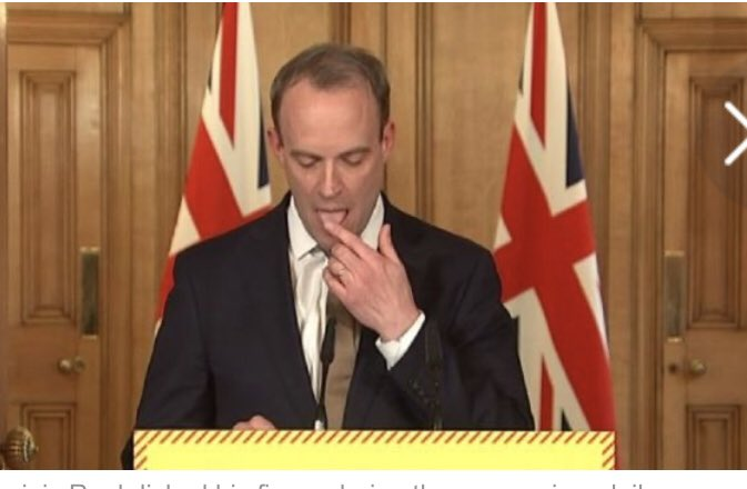 hello this is Derbyshire Police - licking fingers during press conference - NOT ESSENTIAL