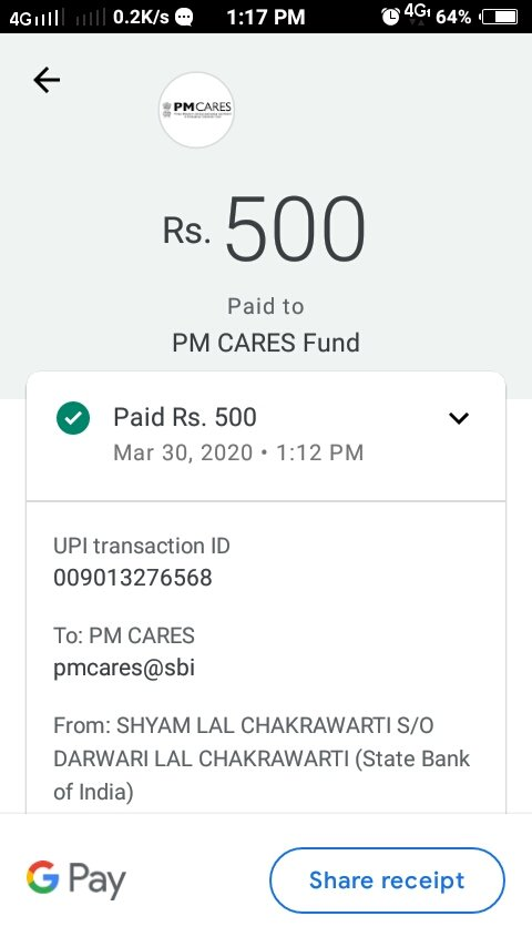 my small contribution for our country to fight against covid19 .My motive is to make people aware 'cause its easy to advice instead of cooperation.Requested to u.please donates as much as possible at pm cares fund.@imVkohli @RajkummarRao @aliaa08 @priyankachopra @TheAaryanKartikpic.twitter.com/15pMldlRh0