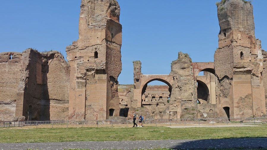 Try a visit to the Baths of Caracalla on your #vacation to Rome. #traveltips