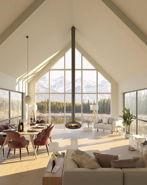 Qui ne rêverait pas de passer un long moment dans cette maison relaxante et apaisante avec une vue sur la nature à couper le souffle? Ça fait du bien…