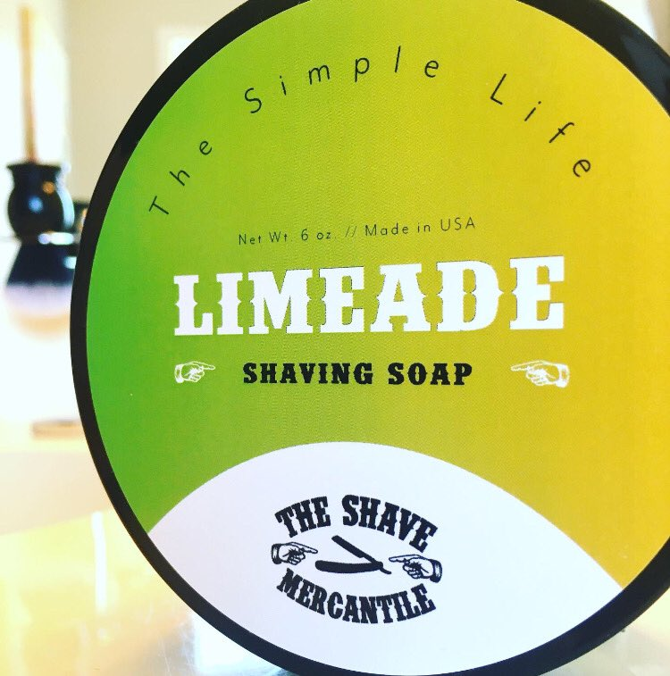 A refreshing citrus shave.  Vegan formula.  Easy on this skin.    LIMEADE Shaving Soap!  https://theshavemercantile.com/collections/the-shave-mercantiles-the-simple-life/products/the-simple-life-limeade-shaving-soap-6oz…  #wetshaving #LimeAde #shavingsoap pic.twitter.com/vC1XhWLZbr