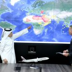 Image for the Tweet beginning: Qatar Airways flies thousands of