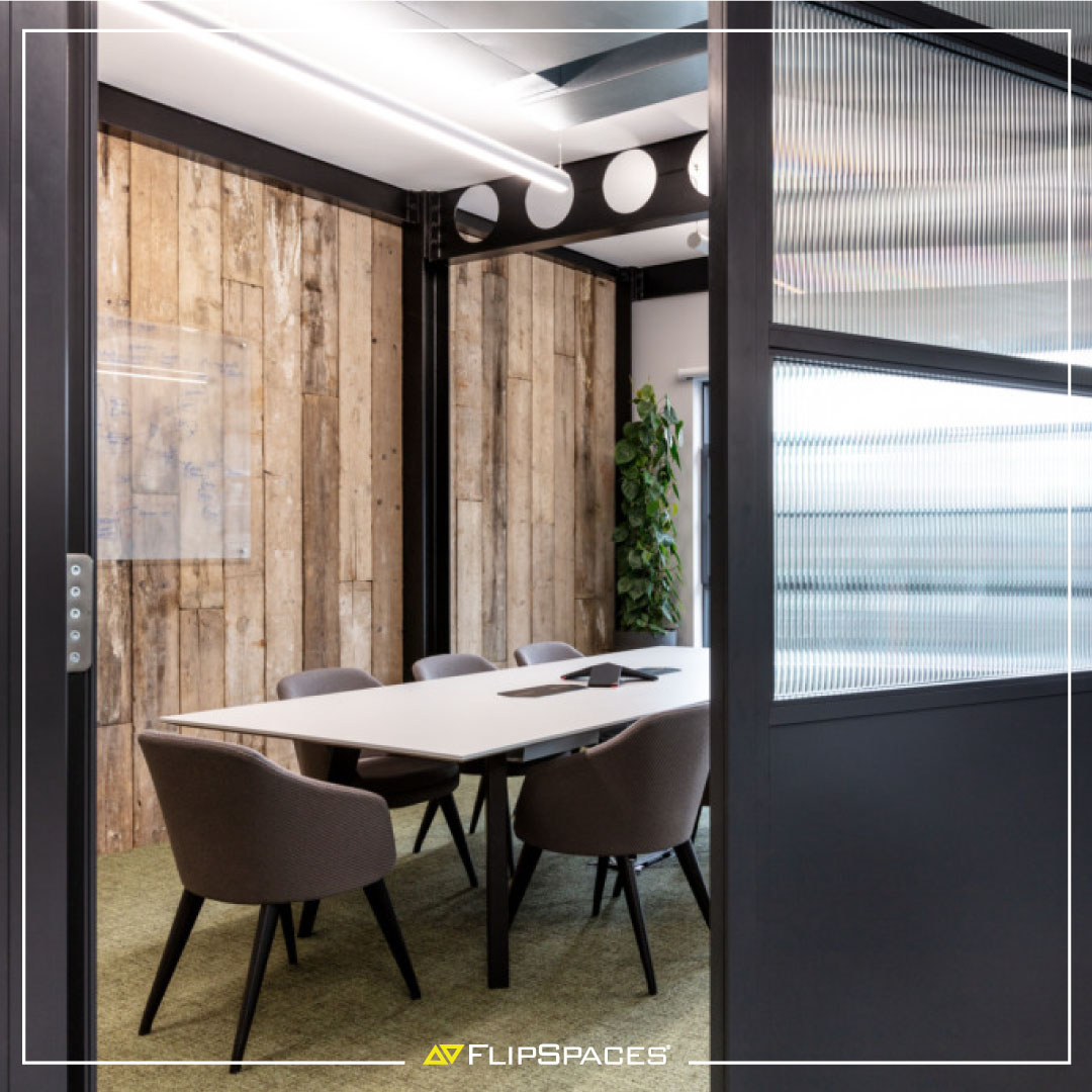 Areas dedicated to meetings should be #functional, #inviting, and #impactful, to allow employees and guests to work towards common goals. Check out #personalised meeting and conference rooms designed by #flipspaces  #meetingrooms #conferencerooms #officeinteriors  #officedesign