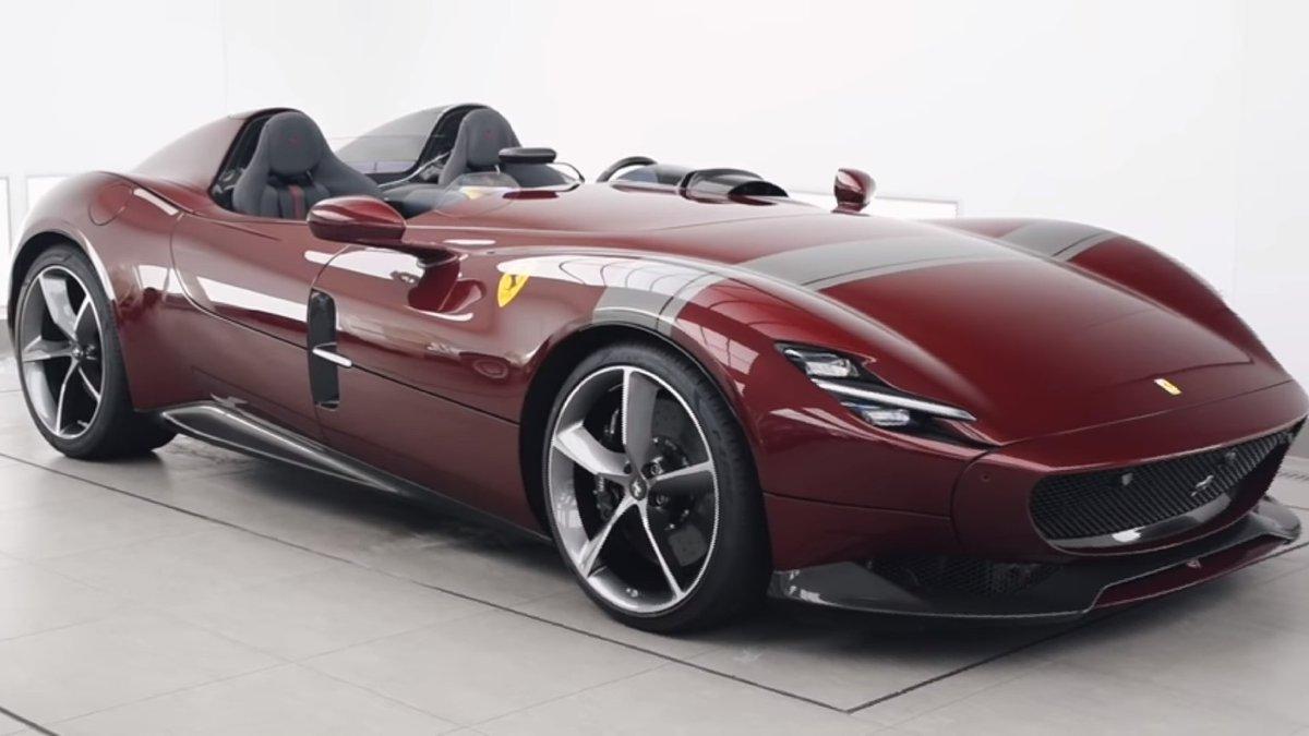 24wheel News On Twitter Ferrari Monza Monzasp2 In Dark Red Make You Spend All Day Looking At It Monzasp1 Ferrarimonza