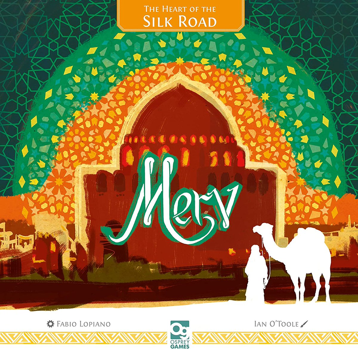 test Twitter Media - The cover of Merv: The Heart of the Silk Road — a title coming from @flopiano & @OspreyGames in October 2020 — features a dazzling cover from @ianotooletweets that depicts a mirage-y city viewed through desert-induced blindness.  BGG game page: https://t.co/xKxgo4Acaf. —WEM https://t.co/eUjUiM9Ha5