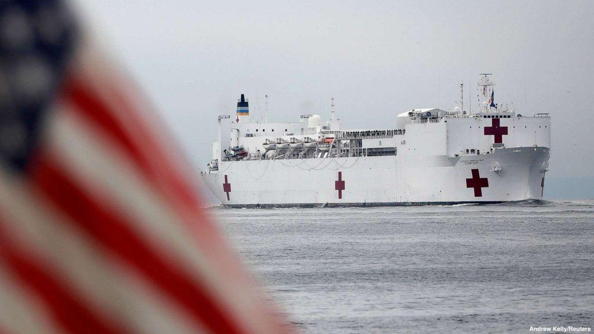 RT @the_trump_virus: NEW YORK UPDATE: USNS Comfort has arrived in New York harbour.  #coronavirus https://t.co/hk9slqf9Gi