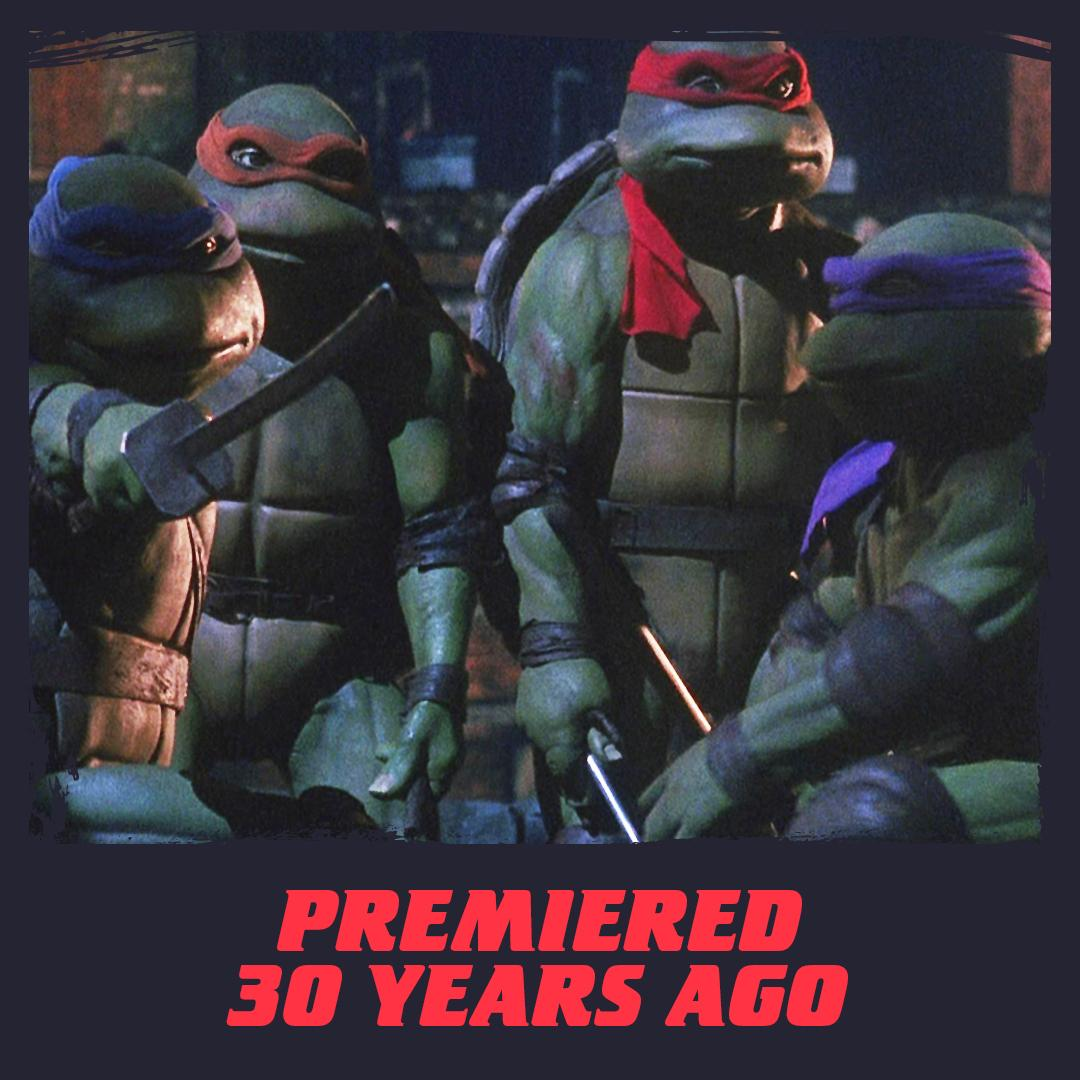 on this day 30 years ago, the original TMNT movie premiered