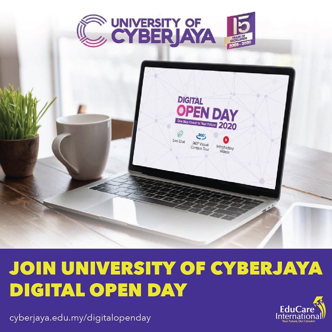 Let's get started. Study with University of Cyberjaya now. All lectures & Tutorials are now being delivered online. Join Cyberjaya DIGITAL OPEN DAY today  http://cyberjaya.edu.my/digitalopenday #unicyberjaya #studyinmalaysia #studyabroad #moveforwardbegreat #besafe #stayhomepic.twitter.com/Q2auQas9er