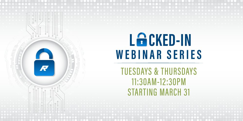 Introducing our NEW webinar series: Locked-in. Our specialists will be dialing into a new topic every Tuesday & Thursday to bring you industry best practices, technology updates and live Q&A sessions. See the full calendar >> http://ow.ly/hqru50yZJNqpic.twitter.com/tLIMjkGXry
