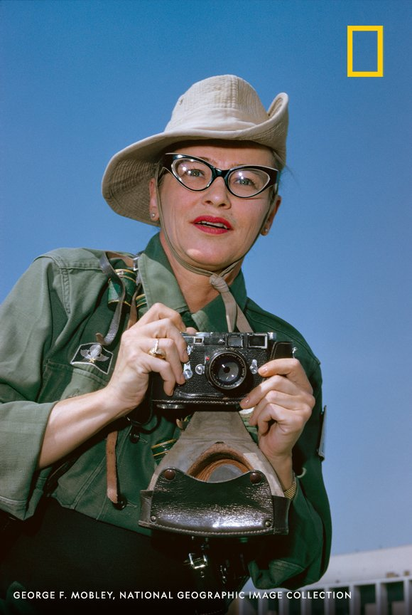 Dickey Chapelle, a photojournalist who covered WWII through the Vietnam War, parachuted for the first time when she was 41 years old. And she was the first female American war correspondent killed in combat. #WHM2020