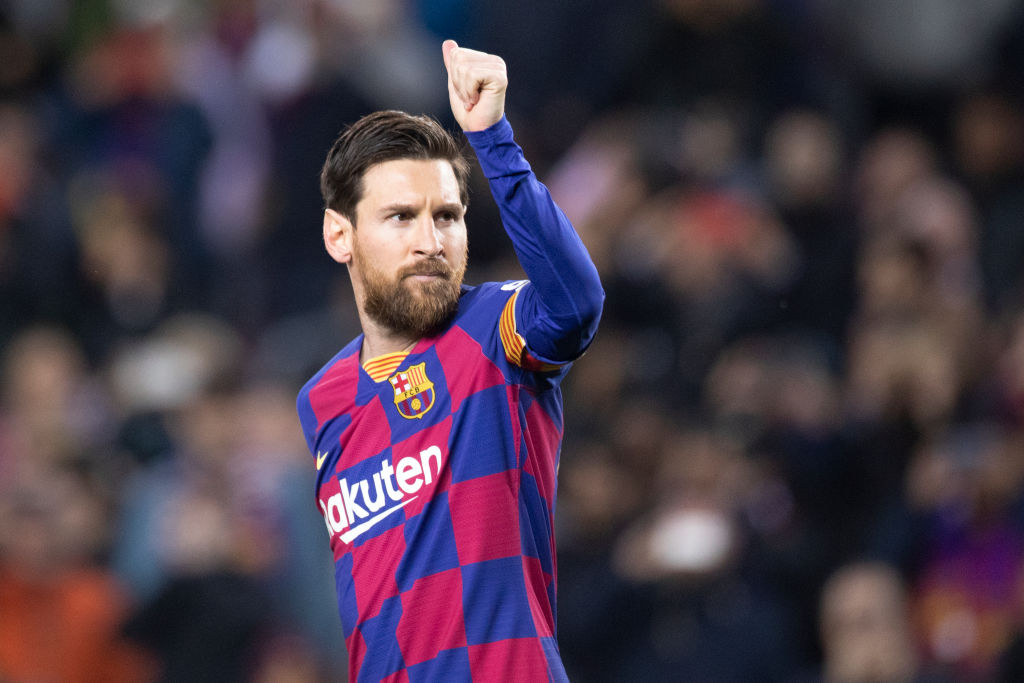 Lionel Messi says Barcelona players will take a pay cut during the coronavirus pandemic so that non-sporting staff can receive their full wages.  More: https://bbc.in/39zUk7S