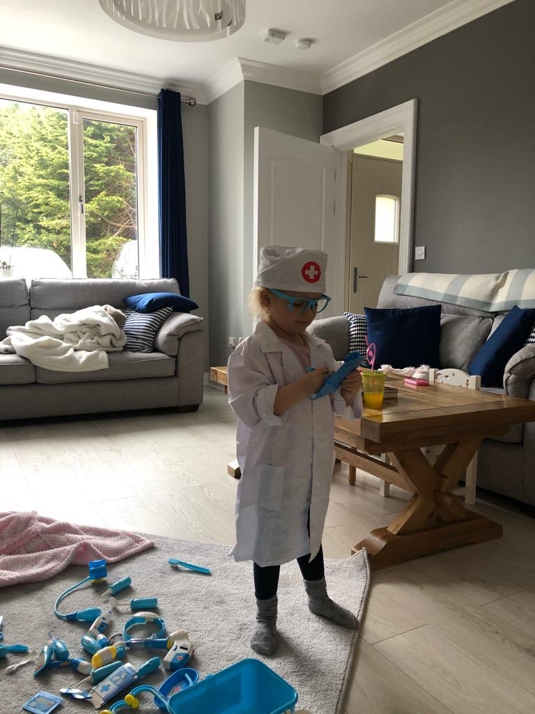 My Goddaughter rapidly trying to find a vaccine. Working around the clock. #NextGeneration