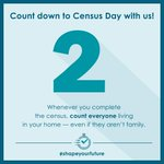 Image for the Tweet beginning: 2 days until Census Day!  Census