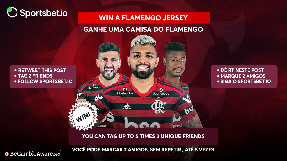 Win a @Flamengo jersey  How  Follow http://Sportsbet.io   Retweet this post  Tag 2 friends in the comment  The winner will be announced by April 3, 12pm CET  T&C Apply  #CRF #Flamengo #Brazil #Football  #Follow #jersey #giveaway #win #Vamos #VamosFlamengopic.twitter.com/srdV4SqHHc