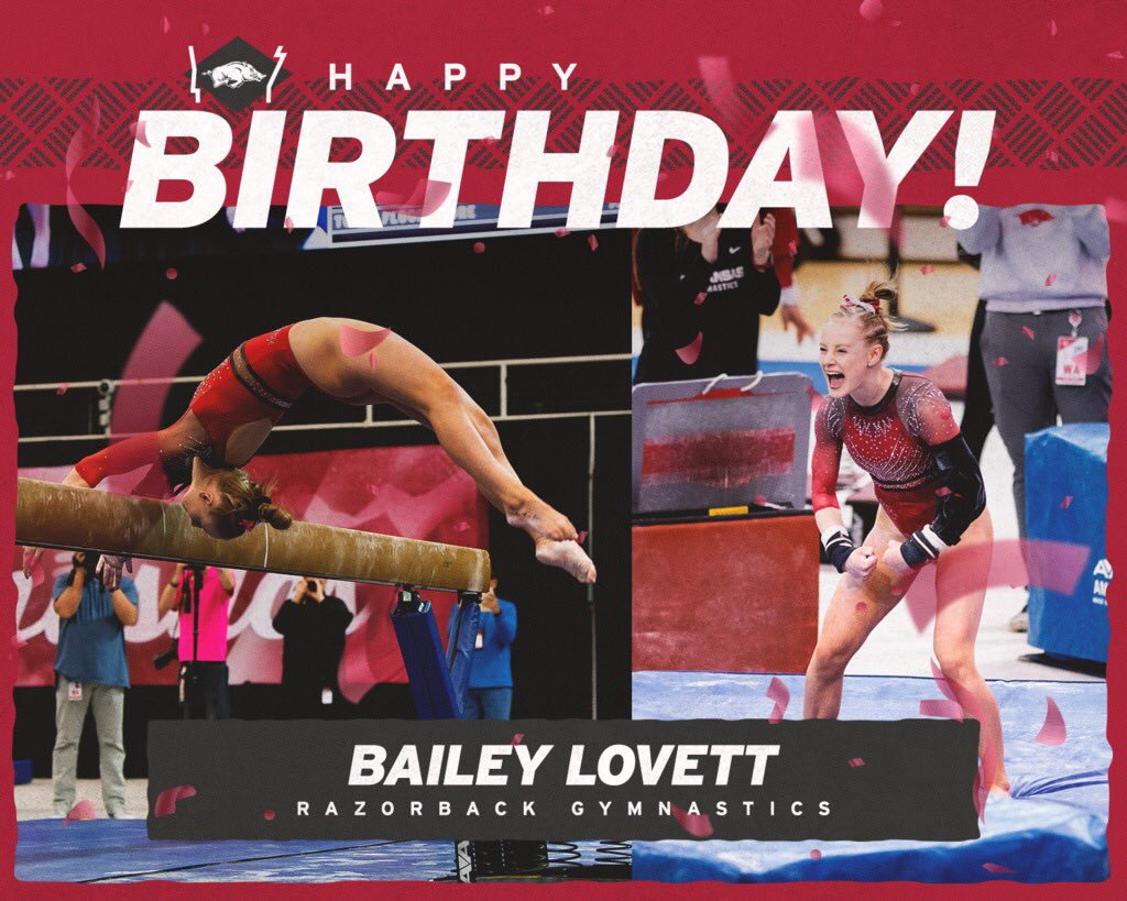 We sure do miss seeing this spunky spitfire in the gym 🤩🔥 Happy Birthday @bailey__lovett!