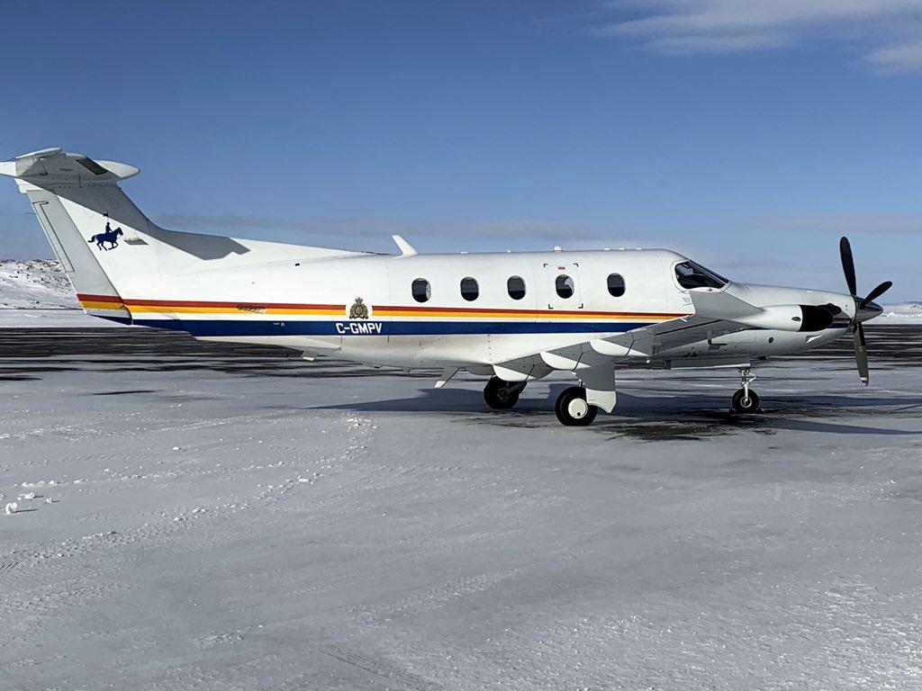 Spotted in #Iqaluit #Nunavut @RCMPNunavut @rcmpgrcpolice @PilatusAircraft #PC12 #CGMPV MAR.30.2020 #YFBSpotters #AVGEEKS