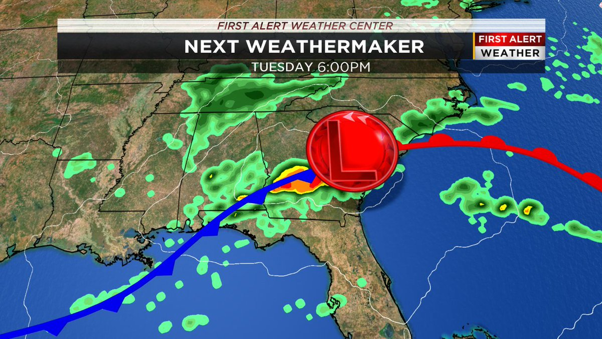 Our next weathermaker arrives tomorrow PM. While the best risk of severe weather will be south of the CSRA, we cannot rule out a few t-storms. Here's what to expect:  More details: http://wfxg.com/weatherpic.twitter.com/5buniINbAt