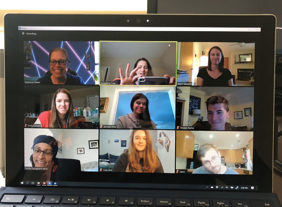 Niceee 😀 Thanks for sharing @JacqueColeLab ! Cheering on other BME labs to share your virtual meetings and smiles. We all need to stay motivated, safe and healthy at this time #zoommeetings #LifeGoesOn