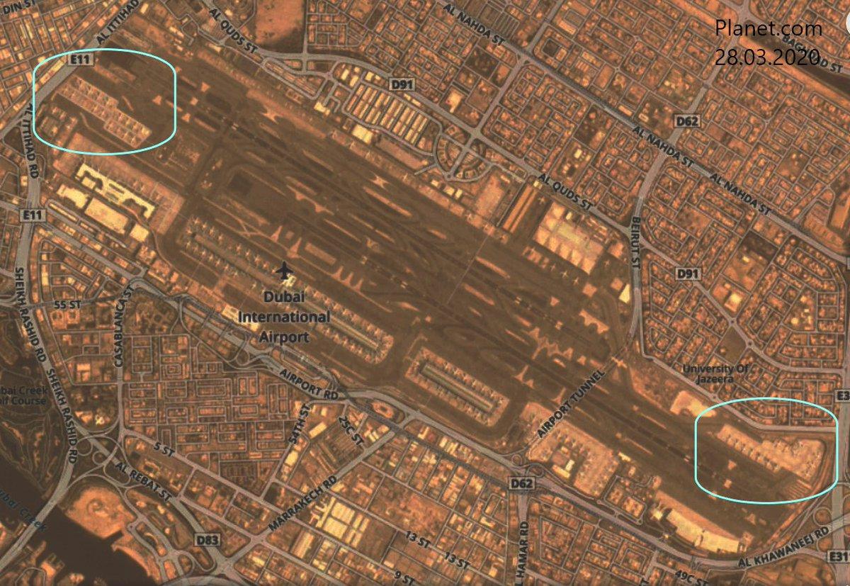 #Dubai International Airport with aircraft parked for storage.  #potn #avgeeks  #coronavirus