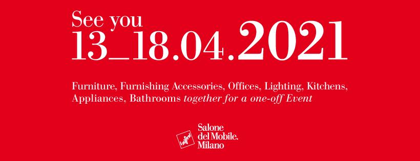 [INFO   SALON] Annulation définitive du Salon du Meuble de Milan en 2020. Le salon est reporté du 13 au 18 avril 2021.  v./ le Courrier du Meuble et de l'Habitat https://bit.ly/39vKaoB  #SaloneDelMobile pic.twitter.com/9YbRsgdSlv