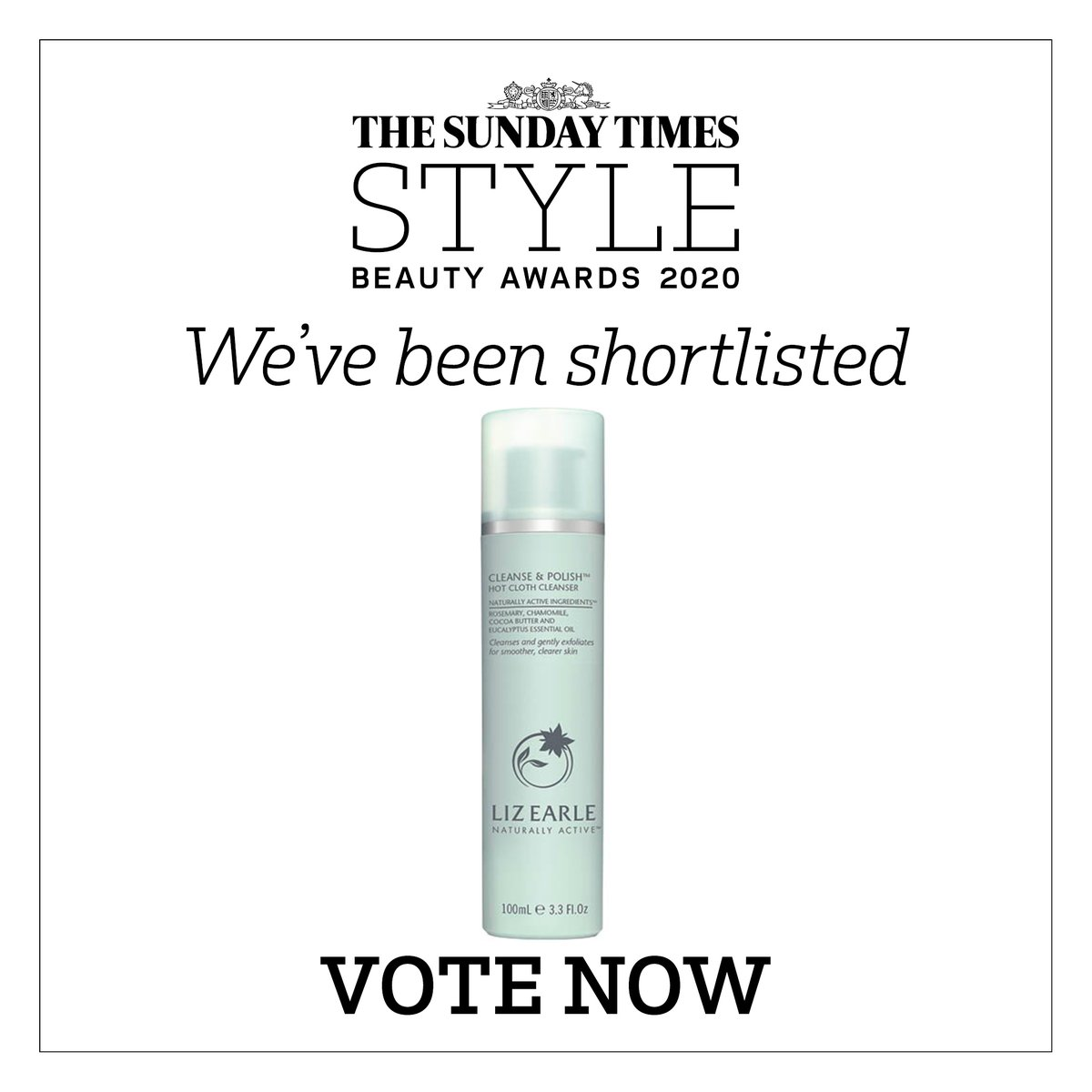 Our classic Cleanse & Polish has been nominated for another award! If you love our icon, we'd be honoured if you'd vote for us as 'Best Cult Product' in The Sunday Times Style Awards 2020. Help us add one more to the trophy cabinet… https://t.co/5qzESUXCUV https://t.co/3MEYPyb6wg