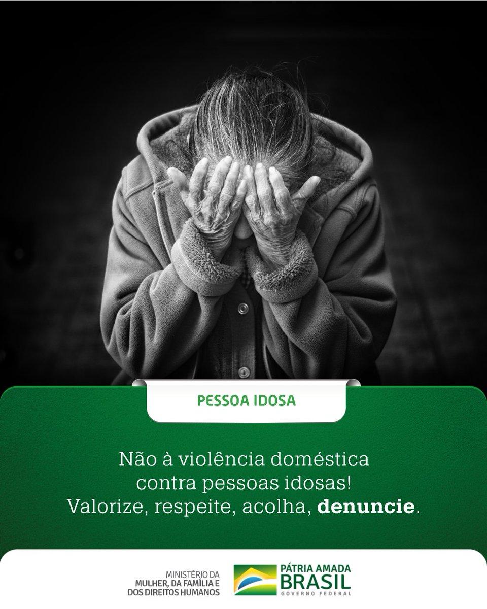 Faça sua parte! Atente-se ainda mais aos cuidados dos idosos durante estes dias de distanciamento social.  Se souber de alguma violência, denuncie. Disque 100!  Vamos nessa! Todos, juntos, cuidando de nossos idosos.  #GovernoFederal #DireitosHumanosParaTodos #SNDPI #Brasilpic.twitter.com/KI7s0ltm0k