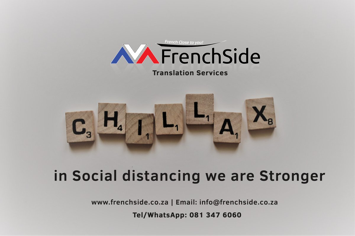 Chillax😉 and stay home. #day4 #Quarantine #translationservices #frenchside #french #saps #Covid_19 #DonaldTrump #Drake #SouthAfrica #Africa #senegal #johannesburg #Pretoria #gauteng