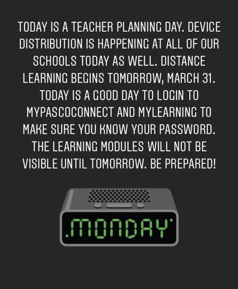 Happy Monday! Please read this important info.!