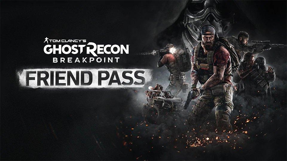 ¡Atención, Ghosts! Os presentamos el nuevo Friend Pass de #GhostReconBreakpoint .  ¿Tienes GRB pero tus colegas no lo tienen? Con el Friend Pass podrán jugar contigo en modo cooperativo, sin restricciones.    https://ghostrecon.com/FriendPass