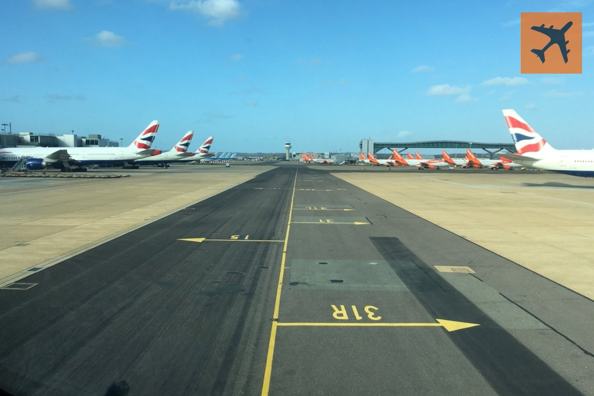 Another view of #Gatwick #Airport - very quiet on the ground as well as in the air. #avgeek #LGW #avgeeks #flying