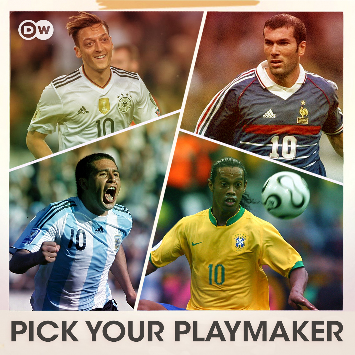 You can choose one playmaker to start with in a World Cup final. Who's it going to be?