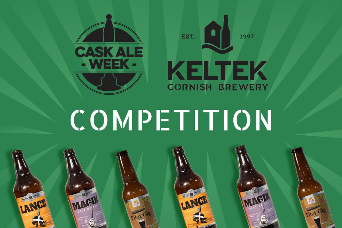 #WIN! Tasty #beer with #CaskAleWeek & @KeltekBrewery . Four cases up for grabs: Magik, Lance, Pilot Gig and a Keltek mixed case. To enter, follow, retweet, like and comment using #CaskAleWeek. Cheers & good luck pic.twitter.com/4EOTcUBfXz