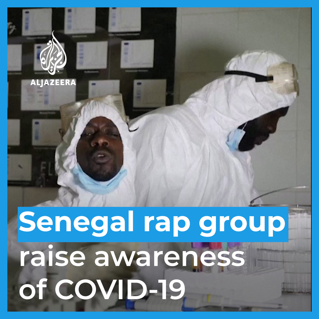 This rap group in Senegal is using music to raise #COVID19 awareness 🔥 [📢 You'll want the sound on for this!]