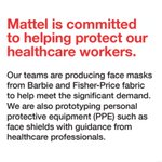 Image for the Tweet beginning: Mattel is committed to helping