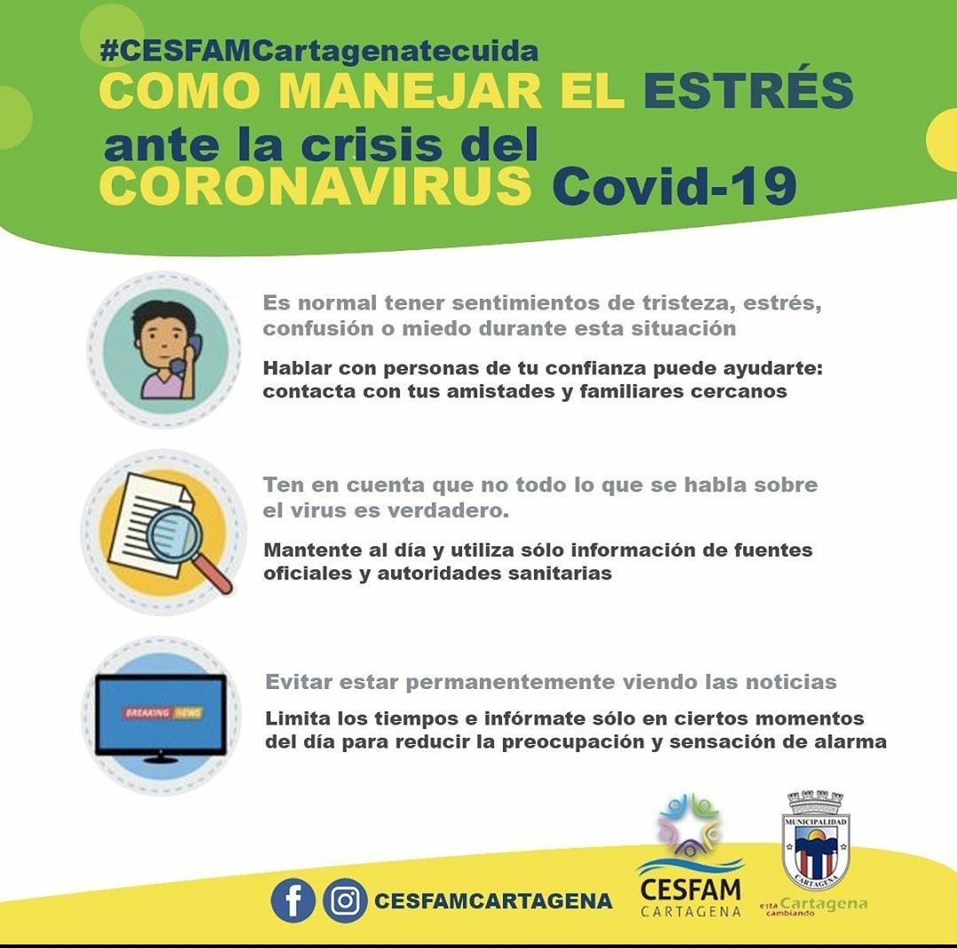 RT @RNE_San_Antonio VIA @CartagenaCambia   Compartimos algunos tips que serán útiles para manejar el estrés y cuidar nuestra salud mental, en esta situación generada por la pandemia del coronavirus COVID-19. @CartagenaCivil @StoDomingoECO12 @alegriagonzaa @reddeemergencia @CA2HJA