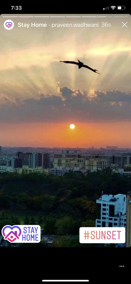 From my window #MondayMotivaton #covid19 #stayhome #COVID-19 #sunset #hope