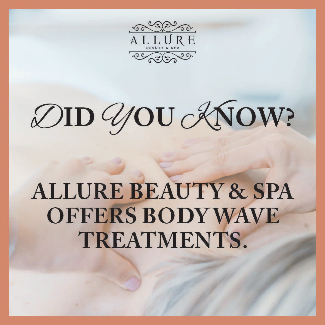 Keep up to date with our upcoming posts on body wave treatments. Good for you and good for the soul.  #allurebeauty #spa #massage #therapy #treatment #body #bodywave #health #healthy #skin #stressfree #aromatherapypic.twitter.com/6HPgpmSJt5