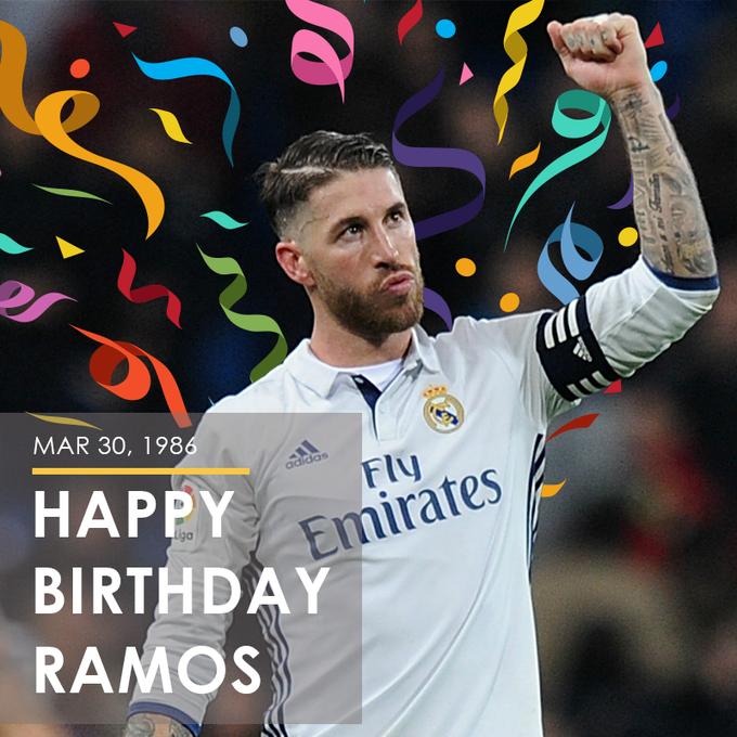 Happy birthday Sergio Ramos! This superstar turns 33 today.