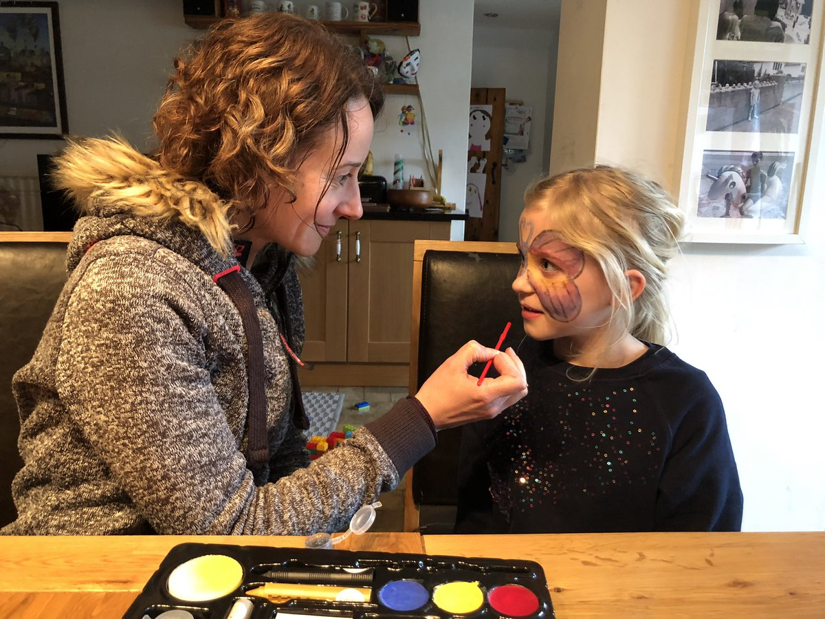 It's not all #socialmedia in the Status Social world, in days of lockdown. Sometimes we have to face paint too!