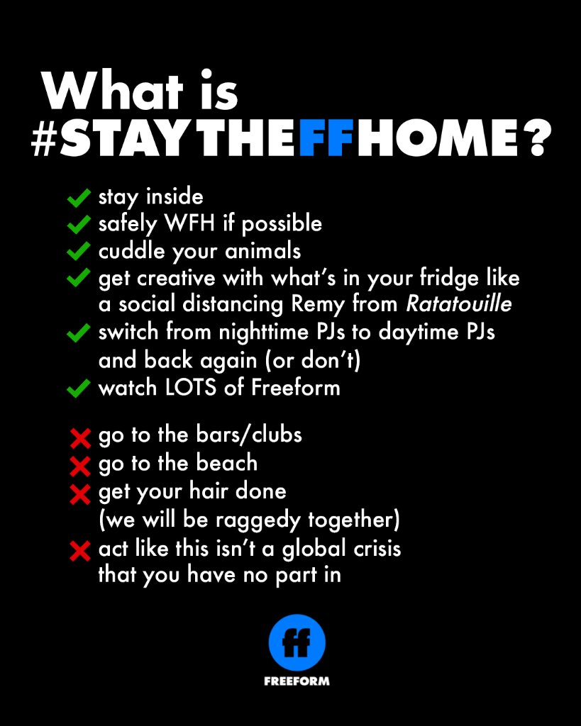 This only works if all of us do it together. Hang in there. #StayTheFFHome