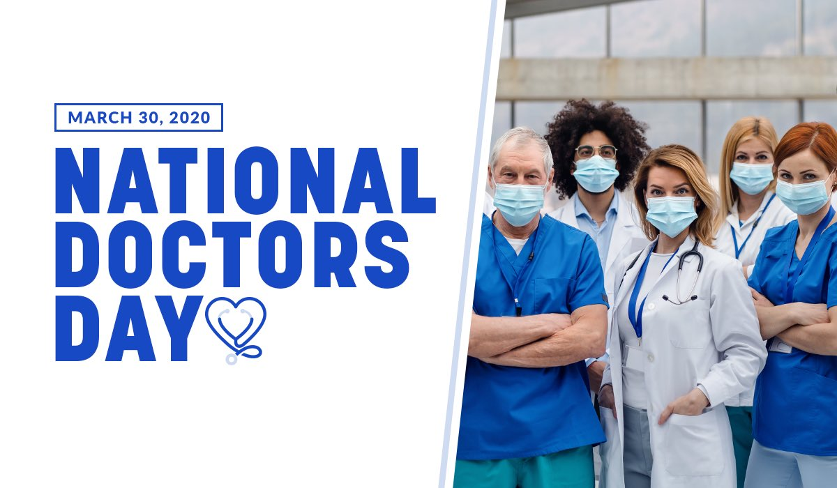 Today, and every day, thank you to all of our doctors who keep us healthy and safe.💙
