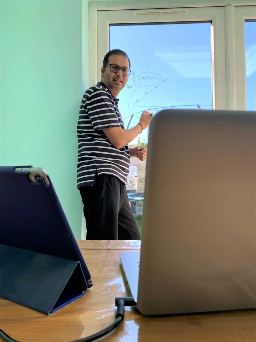 2⃣2⃣ A @uniofbrighton professor has found a novel way to continue teaching from home – with the help of his patio windows How is Professor Bhavik Patel, Professor of Clinical and Bioanalytical Chemistry, doing it? Find out 👉 buff.ly/39pNfq2 #UnisTogether #UniSupport