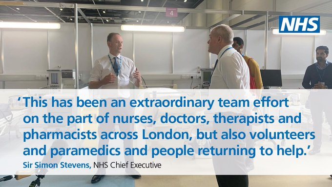 Take a look inside the new NHS Nightingale London hospital, built to to help the NHS fight #coronavirus ➡️